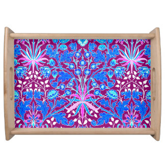 William Morris Hyacinth Print, Aqua and Purple Serving Tray