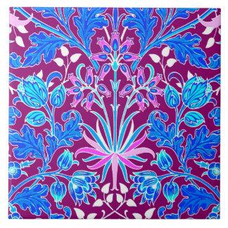 William Morris Hyacinth Print, Aqua and Purple Tile