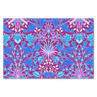 William Morris Hyacinth Print, Aqua and Purple Tissue Paper