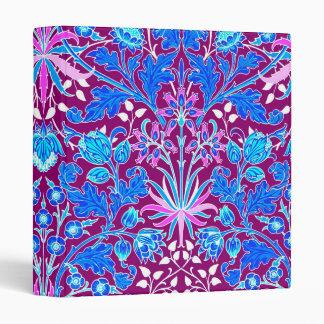 William Morris Hyacinth Print, Aqua and Purple Vinyl Binders