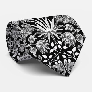 William Morris Hyacinth Print, Black and White Tie