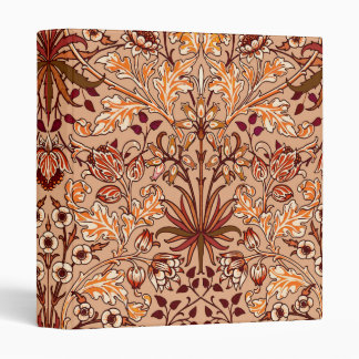 William Morris Hyacinth Print, Brown and Beige Binder