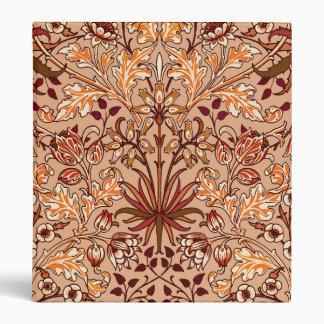William Morris Hyacinth Print, Brown and Beige Binder