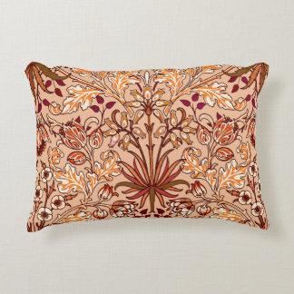 William Morris Hyacinth Print, Brown and Beige Decorative Pillow