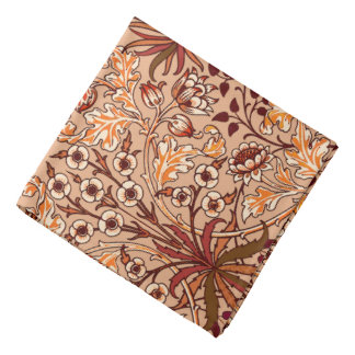 William Morris Hyacinth Print, Brown and Beige Do-rag