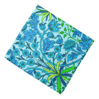 William Morris Hyacinth Print, Cerulean Blue Bandanas