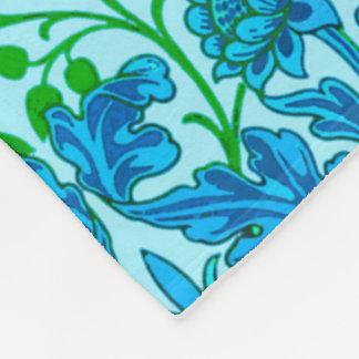 William Morris Hyacinth Print, Cerulean Blue Fleece Blanket