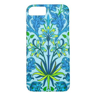 William Morris Hyacinth Print, Cerulean Blue iPhone 8/7 Case