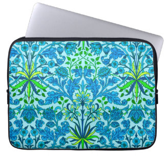 William Morris Hyacinth Print, Cerulean Blue Laptop Sleeve