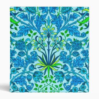 William Morris Hyacinth Print, Cerulean Blue Vinyl Binders