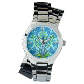 William Morris Hyacinth Print, Cerulean Blue Watch