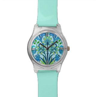William Morris Hyacinth Print, Cerulean Blue Watches
