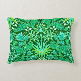 William Morris Hyacinth Print, Emerald Green Decorative Pillow