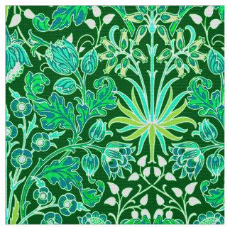 William Morris Hyacinth Print, Emerald Green Fabric