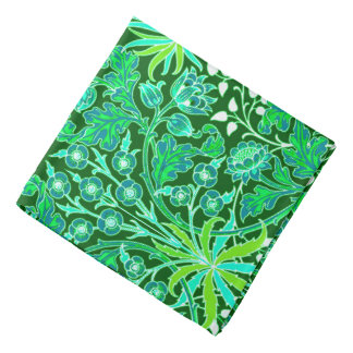 William Morris Hyacinth Print, Emerald Green Kerchief