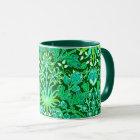 William Morris Hyacinth Print, Emerald Green Mug