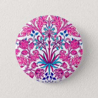 William Morris Hyacinth Print, Fuchsia Pink 2 Inch Round Button