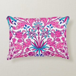 William Morris Hyacinth Print, Fuchsia Pink Accent Pillow