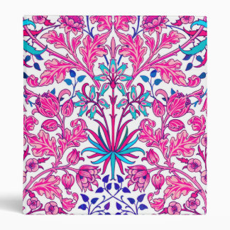 William Morris Hyacinth Print, Fuchsia Pink Binders