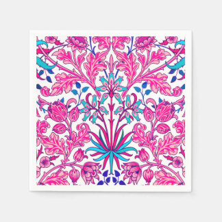 William Morris Hyacinth Print, Fuchsia Pink Disposable Napkin