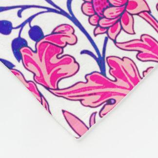 William Morris Hyacinth Print, Fuchsia Pink Fleece Blanket