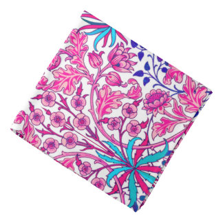 William Morris Hyacinth Print, Fuchsia Pink Kerchiefs