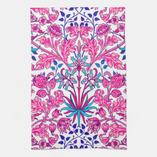 William Morris Hyacinth Print, Fuchsia Pink Kitchen Towel