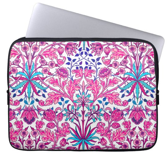 William Morris Hyacinth Print, Fuchsia Pink Laptop Sleeve