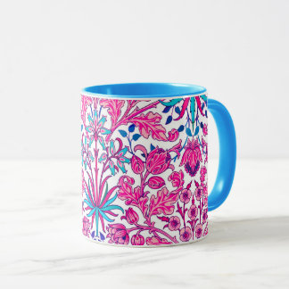 William Morris Hyacinth Print, Fuchsia Pink Mug