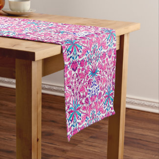 William Morris Hyacinth Print, Fuchsia Pink Short Table Runner