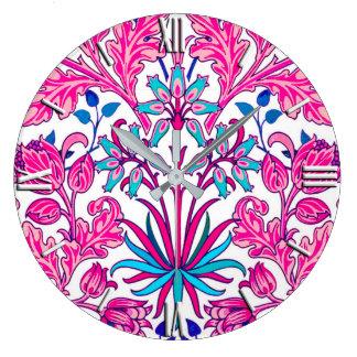 William Morris Hyacinth Print, Fuchsia Pink Wallclocks