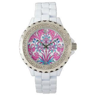 William Morris Hyacinth Print, Fuchsia Pink Watches