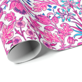 William Morris Hyacinth Print, Fuchsia Pink Wrapping Paper