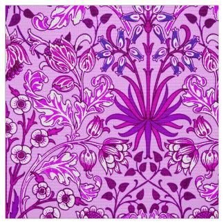 William Morris Hyacinth Print, Lavender and Violet Fabric