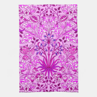 William Morris Hyacinth Print, Lavender and Violet Kitchen Towel