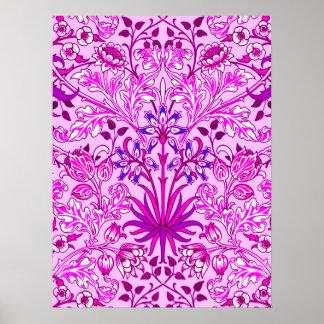 William Morris Hyacinth Print, Lavender and Violet Poster