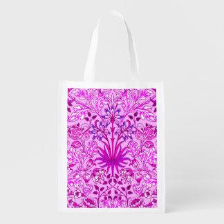 William Morris Hyacinth Print, Lavender and Violet Reusable Grocery Bag