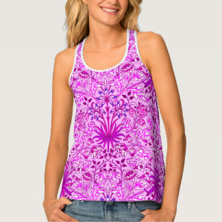 William Morris Hyacinth Print, Lavender and Violet Tank Top