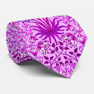 William Morris Hyacinth Print, Lavender and Violet Tie