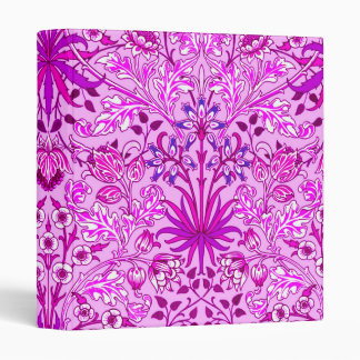 William Morris Hyacinth Print, Lavender and Violet Vinyl Binder