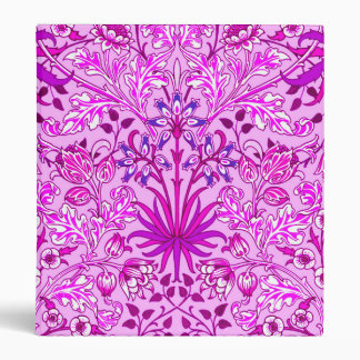 William Morris Hyacinth Print, Lavender and Violet Vinyl Binder