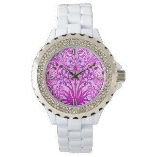 William Morris Hyacinth Print, Lavender and Violet Watch