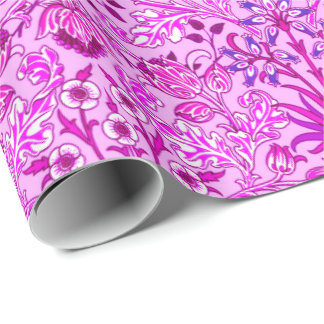 William Morris Hyacinth Print, Lavender and Violet Wrapping Paper
