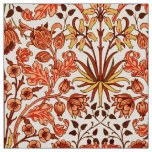 William Morris Hyacinth Print, Orange and Rust Fabric