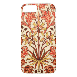 William Morris Hyacinth Print, Orange and Rust iPhone 8/7 Case