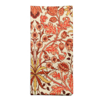 William Morris Hyacinth Print, Orange and Rust Napkin