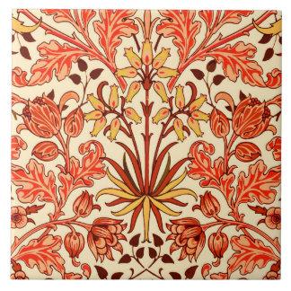 William Morris Hyacinth Print, Orange and Rust Tile
