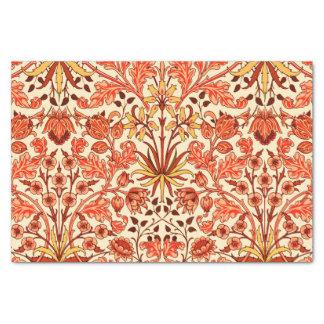 William Morris Hyacinth Print, Orange and Rust Tissue Paper