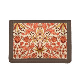 William Morris Hyacinth Print, Orange and Rust Tri-fold Wallet