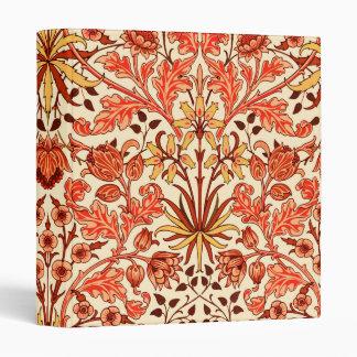 William Morris Hyacinth Print, Orange and Rust Vinyl Binders